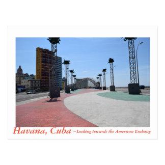 Havana Cuba facing the American Embassy Postcard