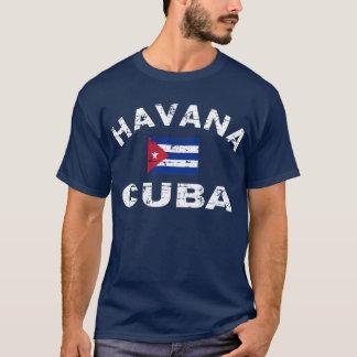 Havana Cuba Grunge Flag T-Shirt