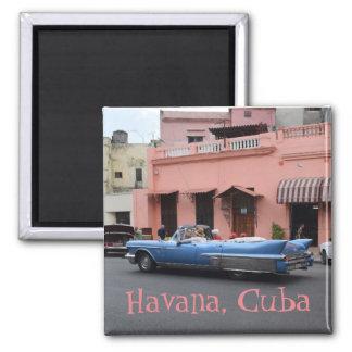 Havana Cuba Pink Building Class ic Old Car Magnet