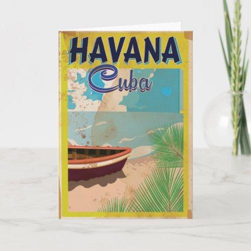 Havana, Cuba Vintage vacation Poster