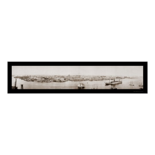 Havana Cuba Waterfront Photo 1920 Poster