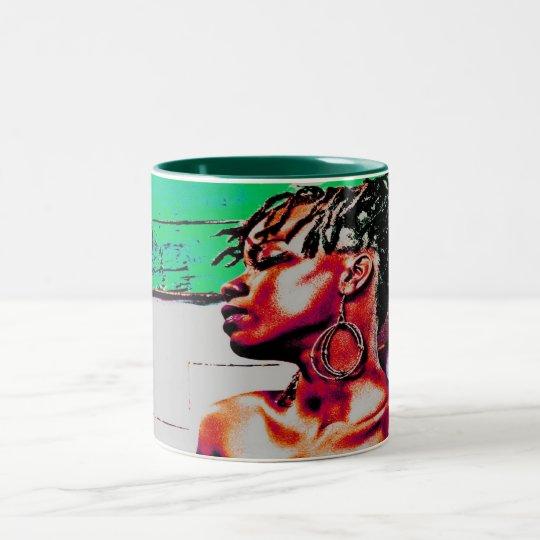 HAVANA GIRL Two-Tone COFFEE MUG