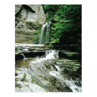 Havana Glen falls in Montour Falls, NY Postcard