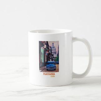 Havana in Cuba  - El Capitolo with oldtimer Coffee Mug
