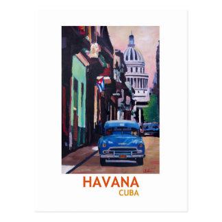 Havana in Cuba  - El Capitolo with oldtimer Postcard