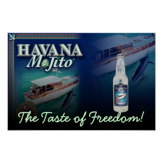 Havana Mojito the Taste of Freedom Canvas Print