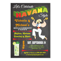 Havana Invitations Announcements Zazzle
