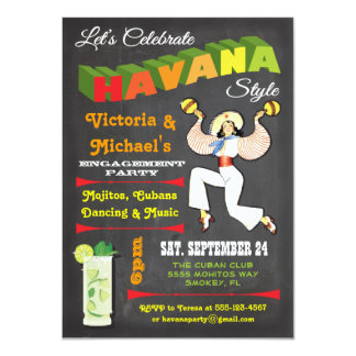 Havana nights Cuban Poster Invitation