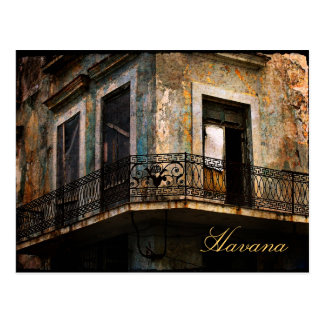 Havana, old city balcony postcard