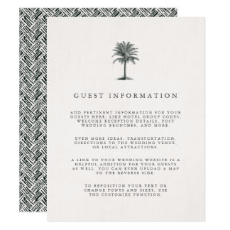 Havana Palm Guest Information Enclosure Card