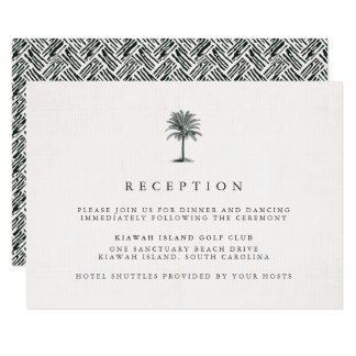 Havana Palm Reception Card