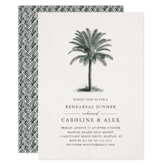 Havana Palm Rehearsal Dinner Invitation