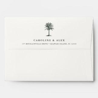 Havana Palm   Return Address Envelope