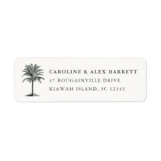 Havana Palm Return Address Label
