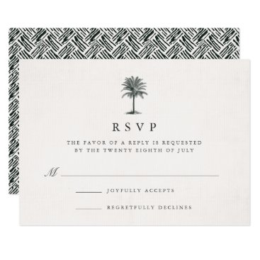 RedwoodAndVine Havana Palm RSVP Card