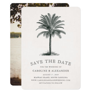 Havana Palm Save the Date Card