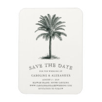 Havana Palm Save the Date Magnet