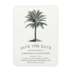 Havana Palm Save The Date Magnet at Zazzle