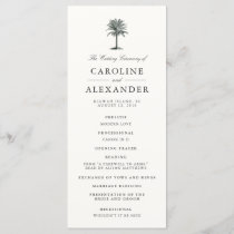 Havana Palm Wedding Ceremony Program