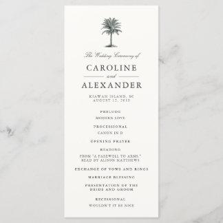 Havana Palm Wedding Ceremony Program