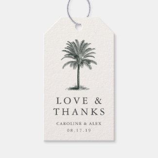 Havana Palm Wedding Thank You Favor Gift Tags