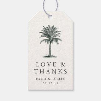 Havana Palm Wedding Thank You Favor Gift Tags