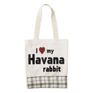 Havana rabbit zazzle HEART tote bag