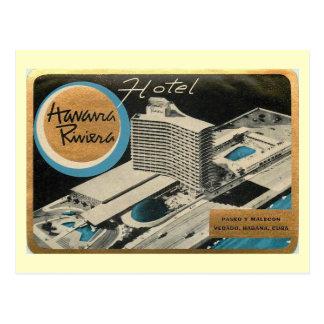 Havana Riviera Hotel, Cuba Vintage Postcard