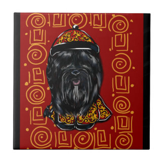 Havana Silk Dog Year of the Dog Ceramic Tile