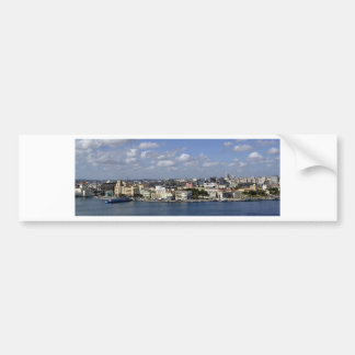 Havana skyline car bumper sticker
