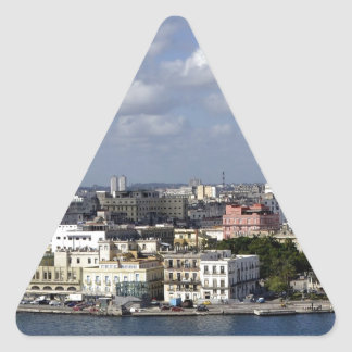 Havana skyline triangle sticker