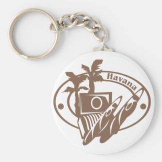 Havana Stamp Keychain