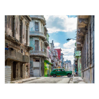 Havana Street Car Cuba Travel Photography Postcard