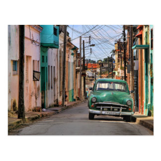 Havana Street Oldtimer Car Cuba Travel Photography Postcard