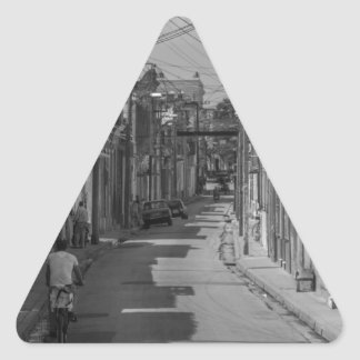Havana streets triangle sticker