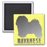 Havanese 2 Inch Square Magnet