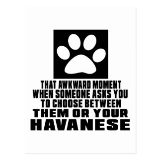 HAVANESE AWKWARD DESIGNS POSTCARD