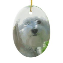 Havanese Ceramic Ornament