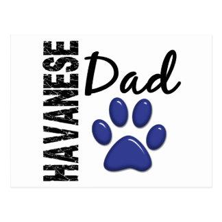 Havanese Dad 2 Postcard