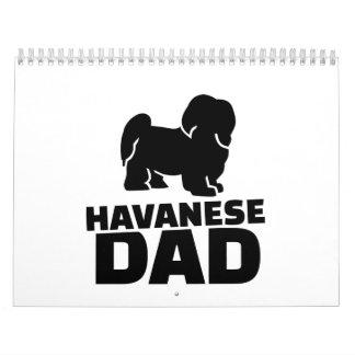 Havanese Dad Calendar