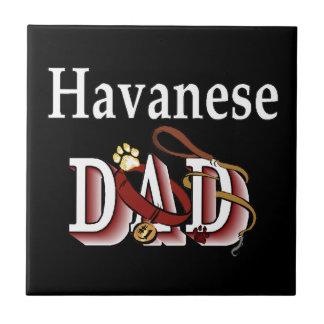 Havanese DAD Ceramic Tile