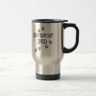 Havanese Dad 15 Oz Stainless Steel Travel Mug