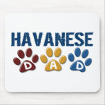 HAVANESE Dad Paw Print 1 Mouse Mat