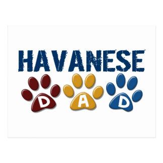 HAVANESE Dad Paw Print 1 Postcard