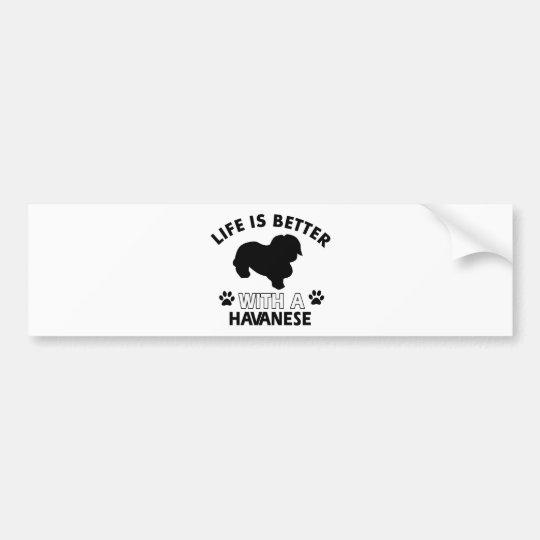 Havanese dog breed designs bumper sticker