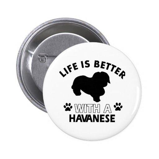 Havanese dog breed designs pins