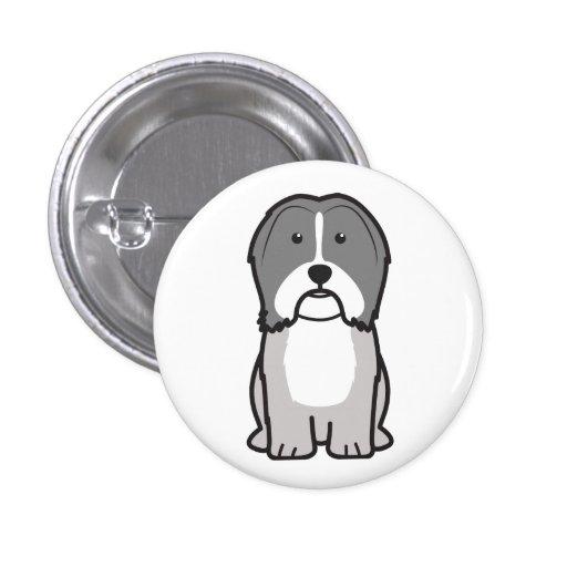 Havanese Dog Cartoon Pinback Button