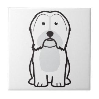 Havanese Dog Cartoon Ceramic Tile