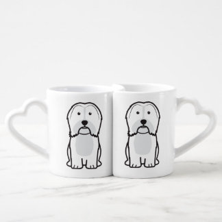 Havanese Dog Cartoon Coffee Mug Set