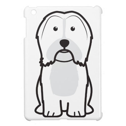 Havanese Dog Cartoon iPad Mini Cover